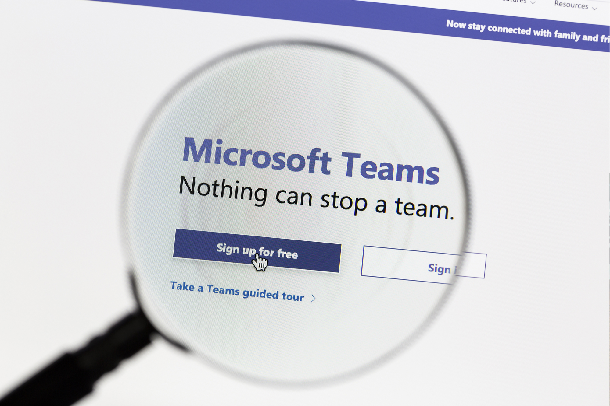 Microsoft Teams website homepage screenshot