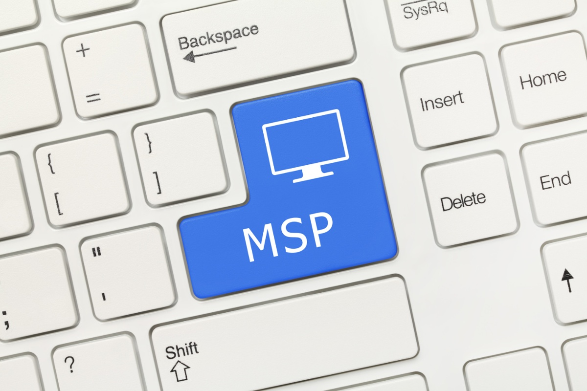Keyboard with the Enter key replaced with a button labeled MSP